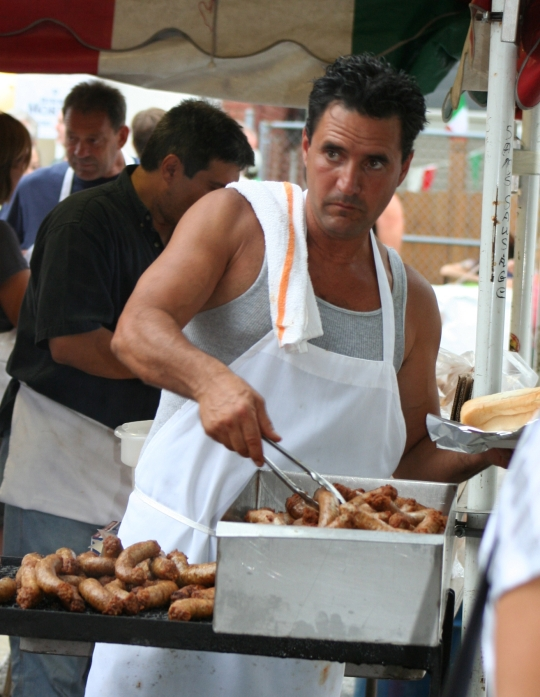 Italian Sausage at the St. Rocco Festival