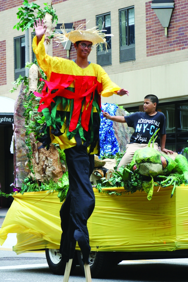 Julia de Burgos Cultural Arts Center's Puerto Rican Parade: Stilt Walker