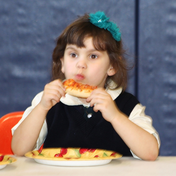 Pizza Party at  Our Lady of Mt. Carmel School