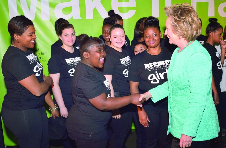 Hillary Clinton meets Westside Community House Teenagers