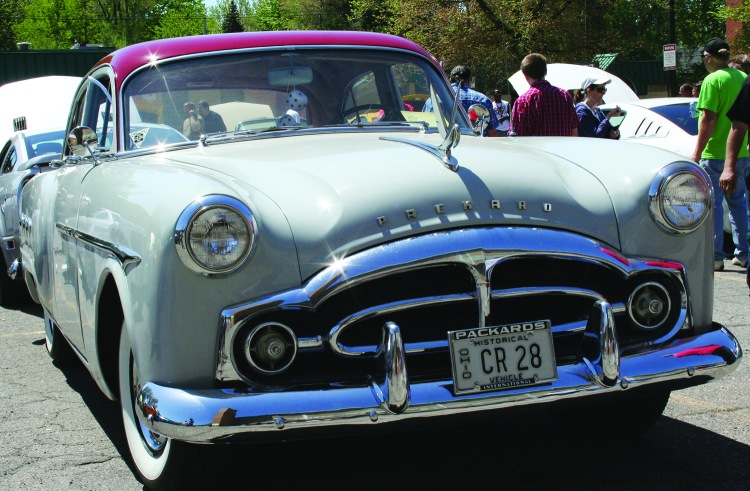 PHOTO BY CHUCK HOVEN Saturday, May 24th, 2014; Car Show, Max Hayes Career and Technical High School, 4600 Detroit Avenue: This 1951 Packard 4-Door was one of the many cars featured.