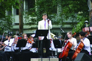 PHOTO BY CHUCK HOVEN Sunday, August 31, 2014; Day and Night Music Festival, Lincoln Park, W. 14th Street in Tremont: Cleveland Pops Orchestra with Carl Topilow entertains the crowd
