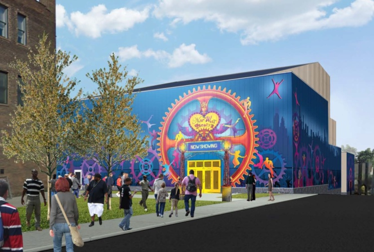 IMAGE COURTESY OF NEAR WEST THEATRE Artist rendering of the entrance to Near West Theatre's new $7.3 million home at W. 6702 Detroit Avenue. Near West Theatre will host an open house in the new facility on Saturday, February 28th from 1-5 p.m. Come to the free event, tour the theatre and enjoy refreshments and entertainment.