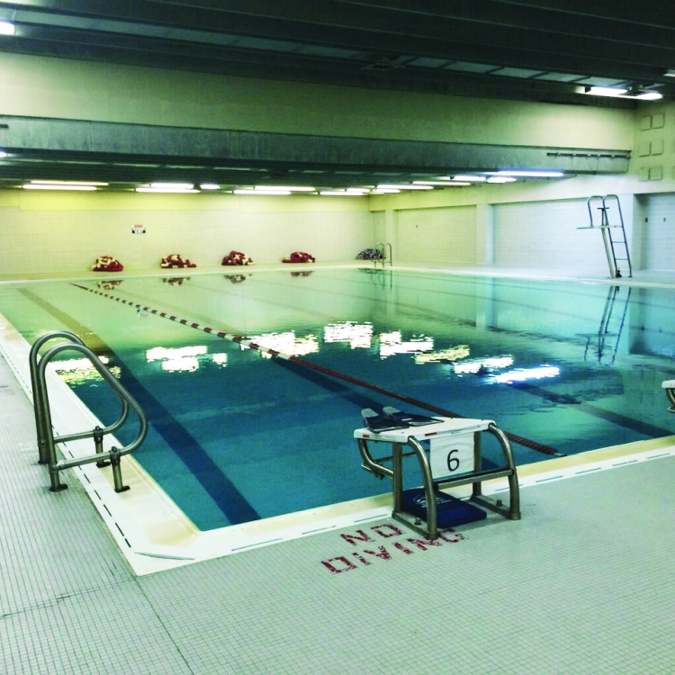 The Lincoln-West pool is one of the school's assets that would not be part of the new building's design.