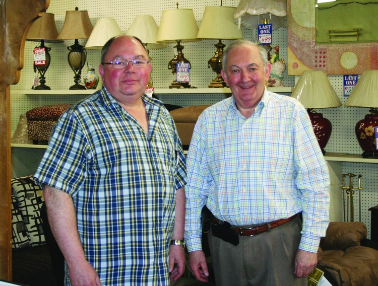 PHOTO BY DEBBIE SADLON Thursday, June 18, 2015; West 25th Street Furnishings, 2104 W. 25th Street: Brothers Tom Feuerman and Alex Feuerman, who purchased West 25ht Street Furnishings in 1979, are closing the doors of their business on July 31st.