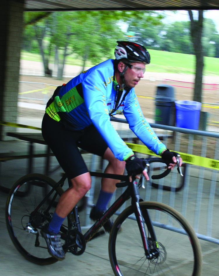 PHOTO BY DEBBIE SADLON Saturday, September 12, 2015; NEOCycle, Edgewater Park: A cyclist, participating in one of the weekend bike races, pedals through the park.