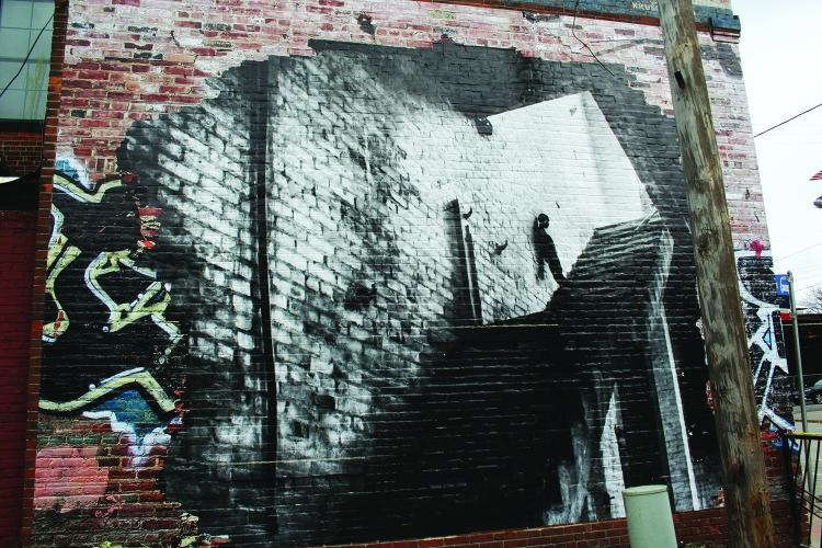 silhouette-mural