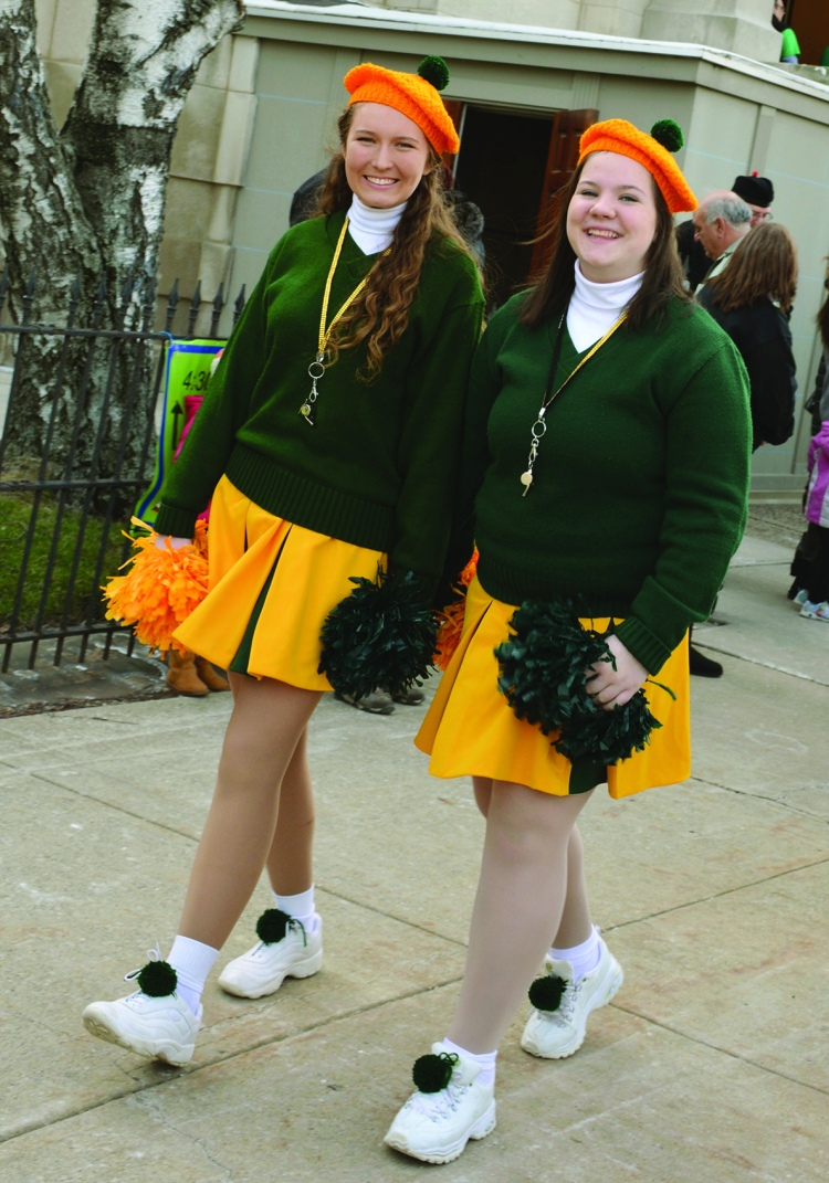 irish cheeerleaders