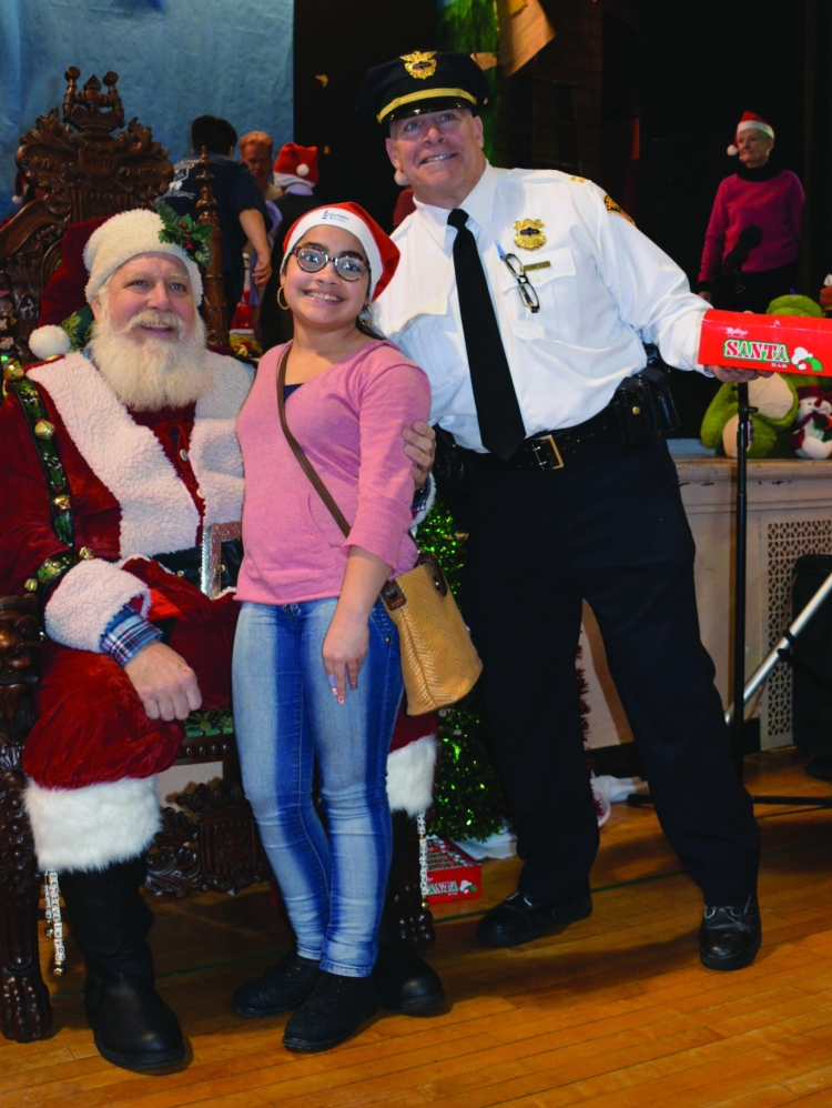 Santa and cop