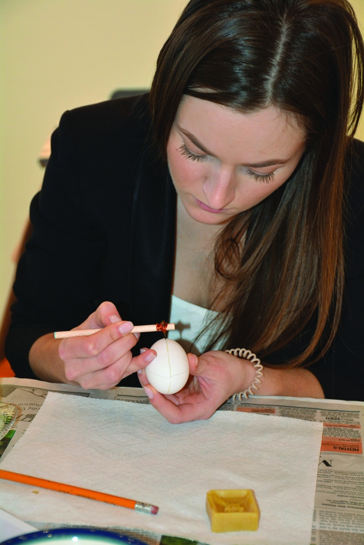 Tanya with plain egg