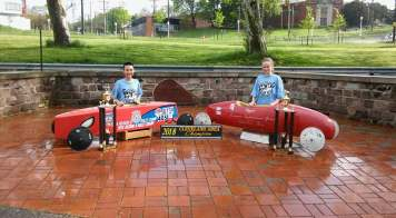 2018 Champion's Andrew Sakeagak and Kendyll Carsaro. Photo is courtesy of Cleveland Area Soap Box Derby Track Facebook page