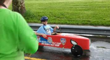 Stock Division Winner Andrew Sakeagak. Photo courtesy of Cleveland Area Soap Box Derby Facebook Page