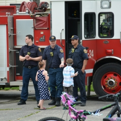 Cleveland Fire Department were also on hand teaching the importance of fire safety.