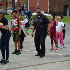 Showing that Cleveland Police know how to have fun, Officer Kidd shows off his moves for the Cha-Cha Slide
