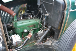 The engine of the 1930 Ford Deluxe was simple and had only what was needed